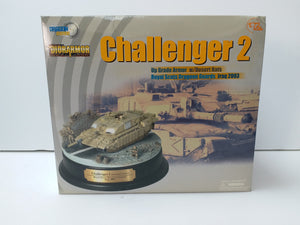 1/72 Challenger 2 w/Desert Rats, Royal Scots Dragoon Guards, Iraq 2003 + Diorama Base