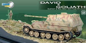 "1/72 ""David & Goliath"" Elefant vs Red Army Anti-Tank Rifleman + Diorama Base"