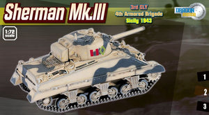 1/72 Sherman Mk.III, 3rd CLY, 4th Armoured Brigade, Sicily 1943