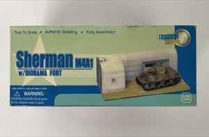 1/72 M4A1 Sherman, 2nd Armored Div., Normandy 1944 + Diorama Fort