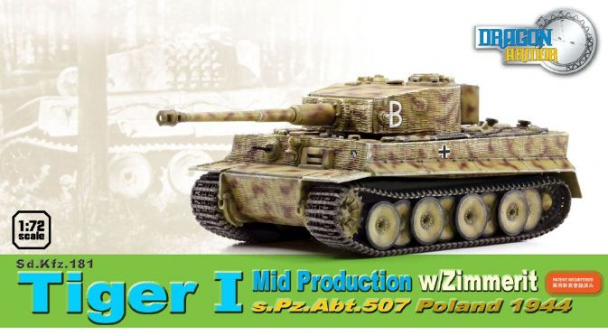 1/72 Sd.Kfz.181 Tiger I Mid Production w/Zimmerit, s.Pz.Abt.507, Poland 1944