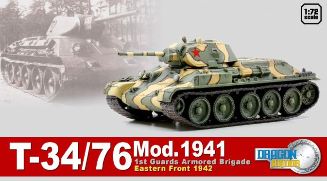 1/72 T-34/76 Mod.1941, 1st Guards Armored Brigade, Eastern Front 1942