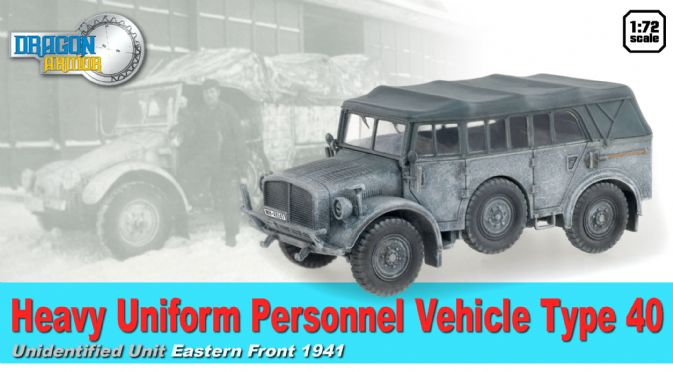 1/72 Heavy Uniform Personnel Vehicle Type 40, Unidentified Unit, Eastern Front 1941