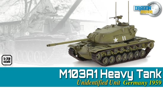 1/72 M103A1 Heavy Tank, Unidentified Unit Germany 1959