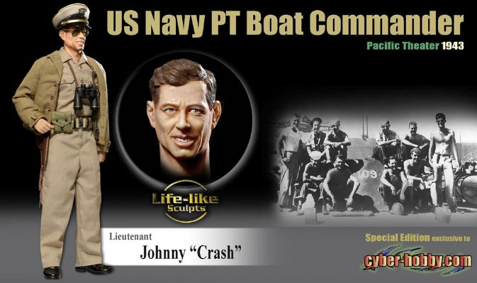 "1/6 ""Johnny ""Crash"", U.S. Navy PT Boat Commander, Pacific Theater 1943 (Lieutenant)"