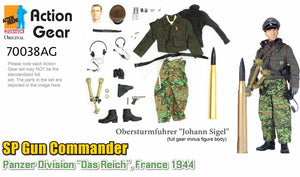 "1/6 Dragon Original Action Gear for Obersturmfuhrer ""Johann Sigel"", SP Gun Commander, Panzer Division ""Das Reich"", France 1944"