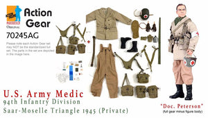 "1/6 Dragon Original Action Gear for ""Doc. Peterson"", U.S. Army Medic, 94th Infantry Division, Saar-Moselle Triangle 1945 (Private)"