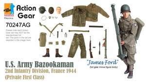 "1/6 Dragon Original Action Gear for ""James Ford"", U.S. Army Bazookaman, 2nd Infantry Division, France 1944 (Private First Class)"