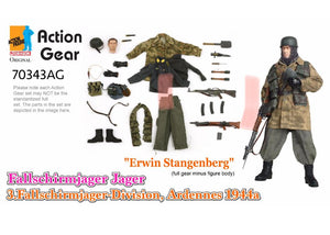 "1/6 Dragon Original Action Gear for ""Erwin Stangenberg"", Fallschirmjager Jager, 3.Fallschirmjager-Division, Ardennes 1944"