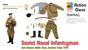 "1/6 Dragon Original Action Gear for ""Fyodor Antonorich Nikitin"" Soviet Naval Infantryman, Red Banner Baltic Fleet, Eastern Front 1944"