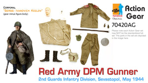 "1/6 Dragon Original Action Gear for ""Sergei Ivanovich Kozlov"" Red Army DPM Gunner, 2nd Guards Infantry, Sevastopol, May 1944"