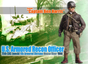 "1/6 Captain ""Ben Harris"", U.S. Armored Recon Officer, 25th CRS (Mech), 4th Armored Division, Meuse River 1944"