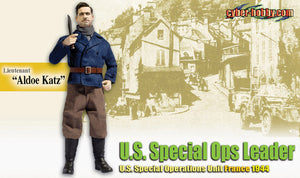 "1/6 Lieutenant ""Aldoe Katz"" U.S. Special Ops Leader U.S. Special Operations Unit France 1944"