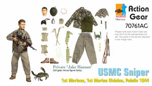 "1/6 Dragon Original Action Gear for Private ""Jake Hanson"", USMC Sniper, 1st Marines, 1st Marine Division, Peleliu 1944"