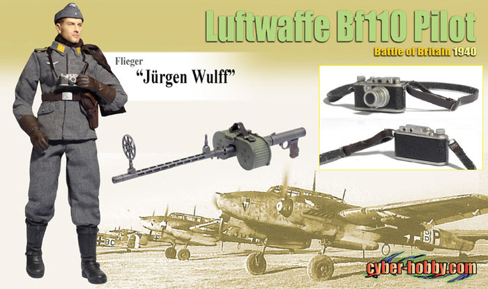 "1/6 Flieger ""Jurgen Wulff"" Luftwaffe Bf110 Pilot Battle of Britain 1940"