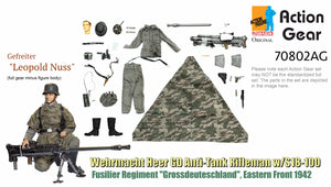 "1/6 Dragon Original Action Gear for Gefreiter ""Leopold Nuss"", Wehrmacht Heer GD Anti-Tank Rifleman w/S18-100, Fusilier Regiment ""Grossdeuteschland"", Eastern Front 1942"