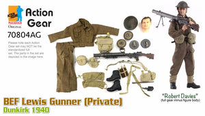"1/6 Dragon Original Action Gear for ""Robert Davies"", BEF Lewis Gunner (Private), Dunkirk 1940"