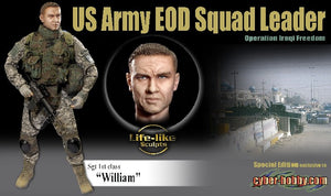 "Cyber Hobby Exclusive DR70807 - 1/6 Sgt 1st class ""William"" US Army EOD Squad Leader Operation Iraqi Freedom"