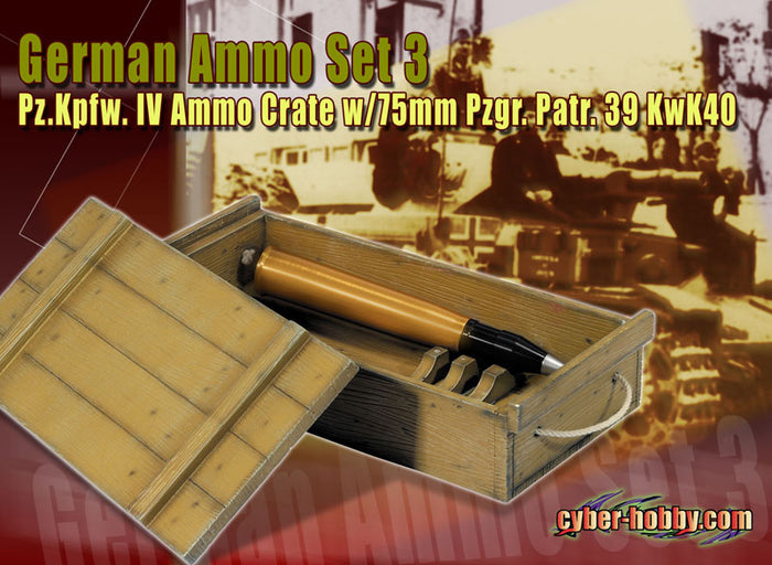 1/6 Pz.Kpfw. IV ammo w/crate