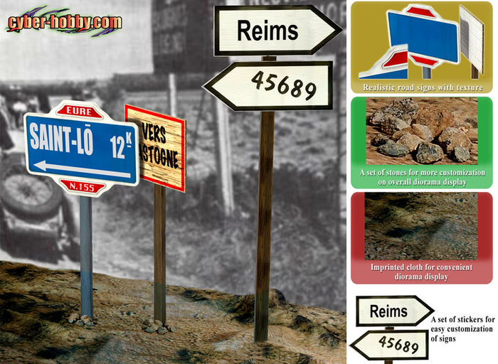 1/6 ROAD SIGNS SET