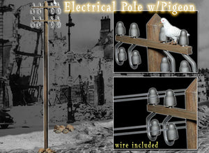 1/6 ELECTRICAL POLE W/PIGEON