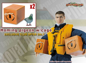 1/6 HOMING PIGEON W/CAGE