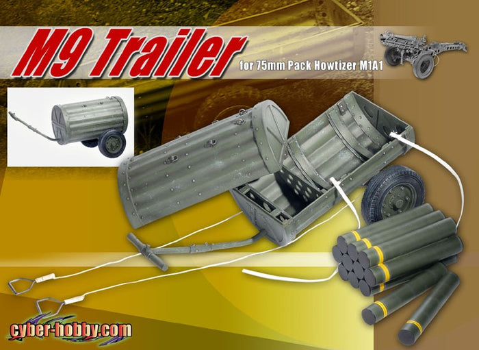 1/6 M9 Trailer for 75mmPack Howtizer M1A1