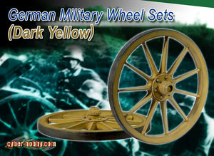 1/6 Germany Military Wheels Set ( Dark Yellow )