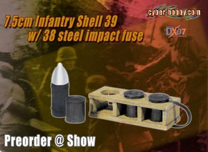 1/6 7.5cm Infantry Shell 39 w/38 Steel Impact Fuse