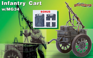 1/6 INFANTRY CART W/MG34 & AMMO CASE