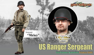 Cyber Hobby Exclusive DR73153 - 1/6 Mickey (Sergeant), US Ranger Sergeant, 2nd Ranger Battalion France 1944
