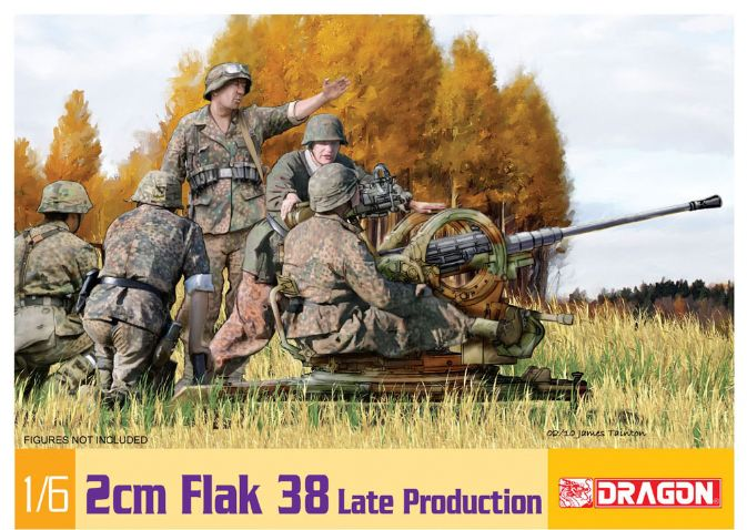 1/6 2cm Flak 38 Late Production