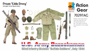 "1/6 Dragon Original Action Gear for Private ""Eddie Strong"", U.S. Army Bazookaman, 92nd Infantry Division ""Buffalo Soldiers"", Italy 1944"