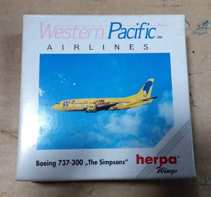 "1/500 737-300 Western Pacific Airlines ""The Simpsons"""
