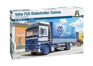 1/24 VOLVO F16 Globetrotter Canvas Truck with elevator