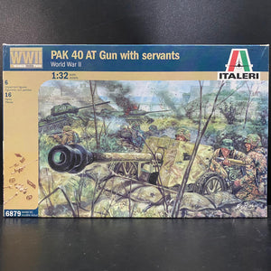1/32 PAK 40 AT Gun with servants