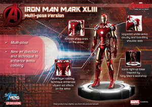 1/9 ACTION HERO VIGNETTE AVENGERS: AGE OF ULTRON IRON MAN XLIII (MULTI-POSE VERSION)