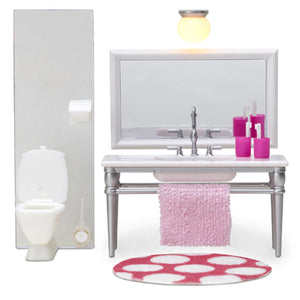 Lundby 1/18 Smaland Bathroom Furniture Set
