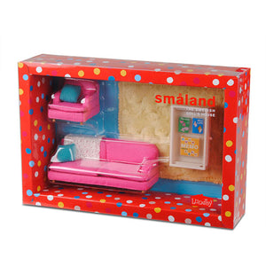 Lundby 1/18 Smaland Sitting Room, Pink