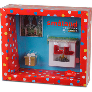 LUNDBY 1/18 SMALAND FIREPLACE SET