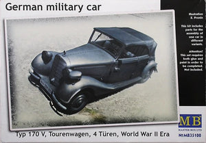 1/35 German military car, Typ 170 V, Tourenwagen, 4 Türen, World War II Era