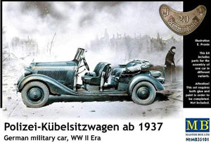 1/35 Polizei-Kübelsitzwagen ab 1937, German military car, WWII era