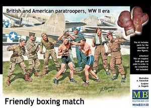 1/35 Friendly boxing match. British and American paratroopers, WW II era