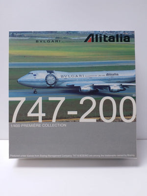 "1/400 747-200 ""BVLGARI ALUMINIUM flies with Alitalia"""