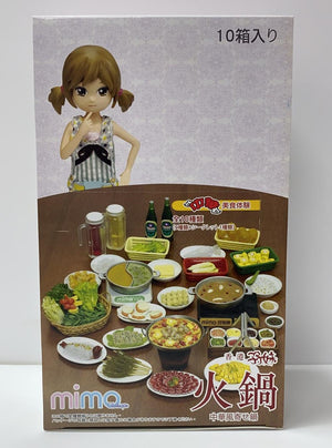 mimo miniature -  Hotpot Food set + Four Seasons Hotpot Set 孖妹火鍋食玩+四季火鍋場景