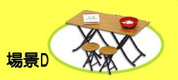 mimo miniature - Bakery Shop Set D - Table & Chair