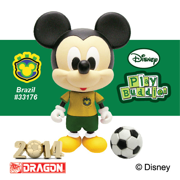 Disney Play Buddies Collection -World Cup Series Mickey (Brazil)