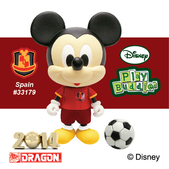 Disney Play Buddies Collection -World Cup Series Mickey (Spain)