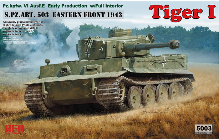 1/35 Tiger I Early Production w/ full interior
