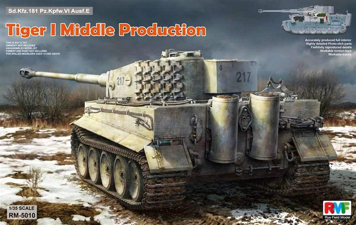 1/35 Tiger I Middle Production W/ Full Interior